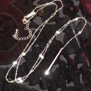 Lane Bryant Long Silver Necklace